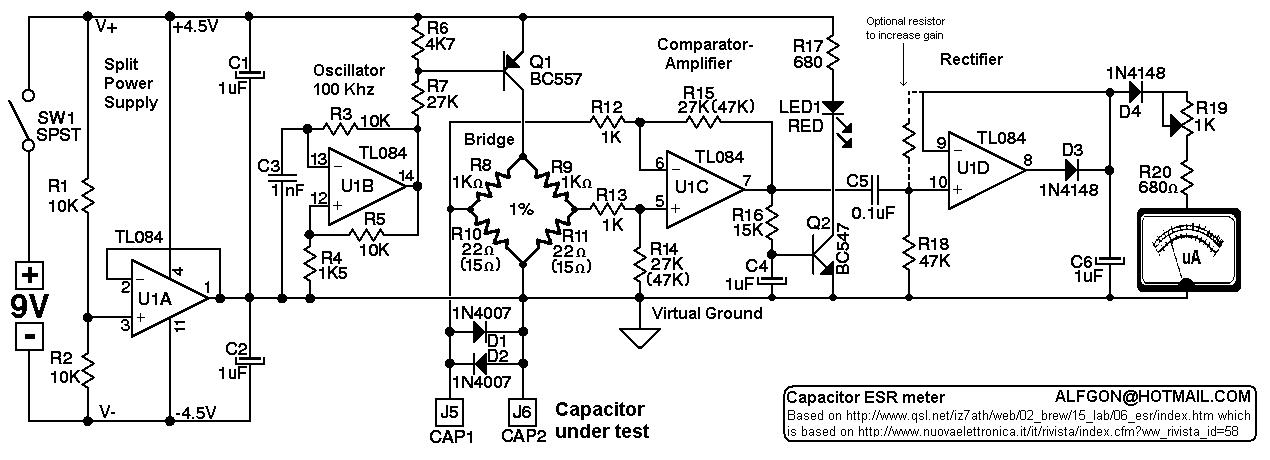 esr kakopa rh kripton2035 free fr simple esr meter circuit diagram Blue ESR Meter
